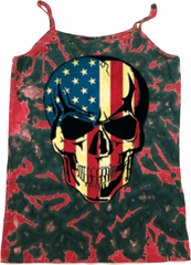 USA Skull Ladies Tie Dye Camisole Tank Top