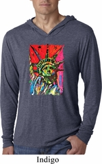 USA Tee Statue of Liberty Painting Lightweight Hoodie