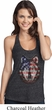 USA Wolf Ladies Charcoal T-Back Tank Top