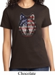 USA Wolf Ladies Shirt