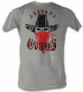 USFL Arizona Outlaws T-shirt Distressed Heather Gray Tee Shirt