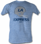 USFL LA Express T-shirt Football League Adult Blue Heather Tee Shirt