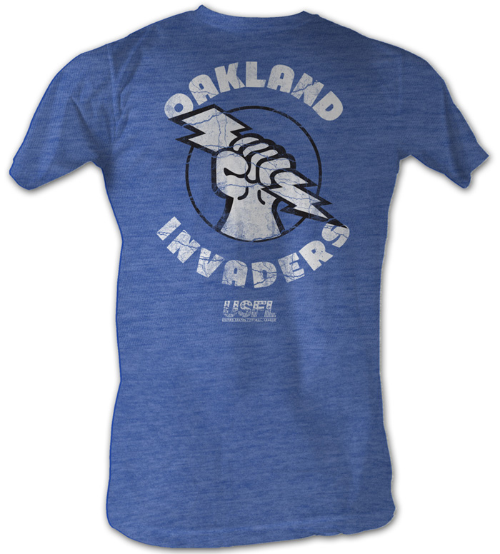 Usfl Oakland Invaders T Shirt Football League Sea Blue