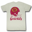 USFL Shirt New Jersey Generals Adult Dirty White Tee T-Shirt