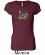 Vegan Ladies Shirt  – Eat Your Veggies Longer Length Shirt