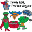 Vegan Mens Tall Shirt - Dewey Says Eat Your Veggies