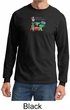 Vegan Shirt  Long Sleeve Mens Tee - Dewey Says Eat Your Veggies