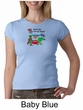 Vegetarian Ladies Shirt  – Eat Your Veggies Crew Neck Shirt