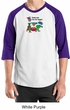 Vegetarian Shirt - Dewey Says Eat Your Veggies Raglan  Adult Shirt