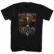 Vikings Shirt Enthroned Black T-Shirt