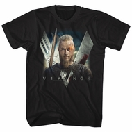 Vikings Shirt Flame Black T-Shirt
