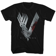 Vikings Shirt Logo Black T-Shirt