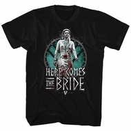 Vikings Shirt The Bride Black T-Shirt