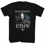 Vikings Shirt Who Wants Black T-Shirt