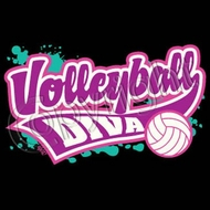 Volleyball Diva Adult Shirt