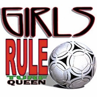 Soccer Girls Rule Turf Queen Adult T-shirt Tee Shirt