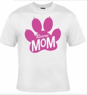 Animal Rescue Paw Print Mom T-shirt