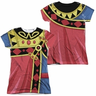 Voltron Zarkon Costume Sublimation Juniors Shirt Front/Back Print