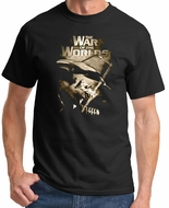 War of the Worlds Shirt - Death Rays Movie Adult T-shirt - Black