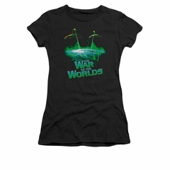 War Of The Worlds Shirt Juniors Global Attack Black T-Shirt