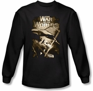 War of the Worlds Shirt - Long Sleeve Adult Black T-shirt