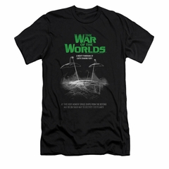War Of The Worlds Shirt Slim Fit Poster Black T-Shirt