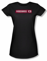 Warehouse 13 Shirt Juniors Logo Black Tee T-Shirt