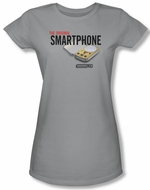 Warehouse 13 Shirt Juniors Original Smartphone Silver Tee T-Shirt
