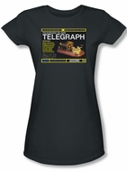 Warehouse 13 Shirt Juniors Telegraph Island Charcoal Tee T-Shirt