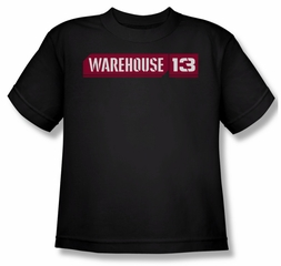 Warehouse 13 Shirt Kids Logo Black Youth Tee T-Shirt