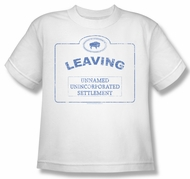 Warehouse 13 Shirt Kids Now Leaving Univille White Youth Tee T-Shirt