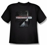 Warehouse 13 Shirt Kids The Unknown Black Youth Tee T-Shirt