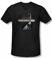 Warehouse 13 Shirt Slim Fit V Neck The Unknown Black Tee Shirt