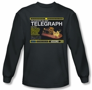 Warehouse 13 Shirt Telegraph Island Long Sleeve Charcoal Tee T-Shirt
