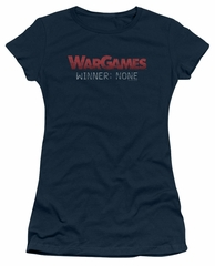 WarGames  Juniors Shirt Winner None Navy Blue T-Shirt