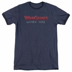 WarGames  Winner None Navy Blue Ringer Shirt