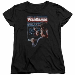 WarGames  Womens Shirt Movie Poster Black T-Shirt