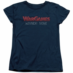 WarGames  Womens Shirt Winner None Navy Blue T-Shirt