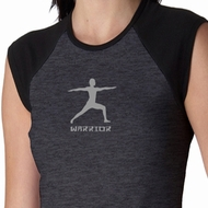 Warrior 2 Pose Ladies Yoga T-shirts