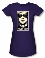 Watchmen Juniors T-shirt Movie Superhero Trust In Ozy Purple Tee Shirt