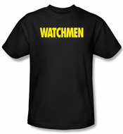 Watchmen T-shirt Movie Superhero Logo Adult Black Tee Shirt