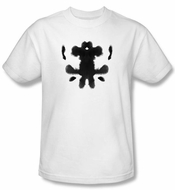 Watchmen T-shirt Movie Superhero Rorschach Face Adult White Tee Shirt
