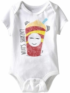 What's Shakin' Funny Baby Romper White Infant Babies Creeper