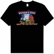 WHEN I DIE Funny Bowling Bowler Adult T-shirt Tee Shirt