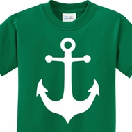 White Anchor Kids Sailing Shirts