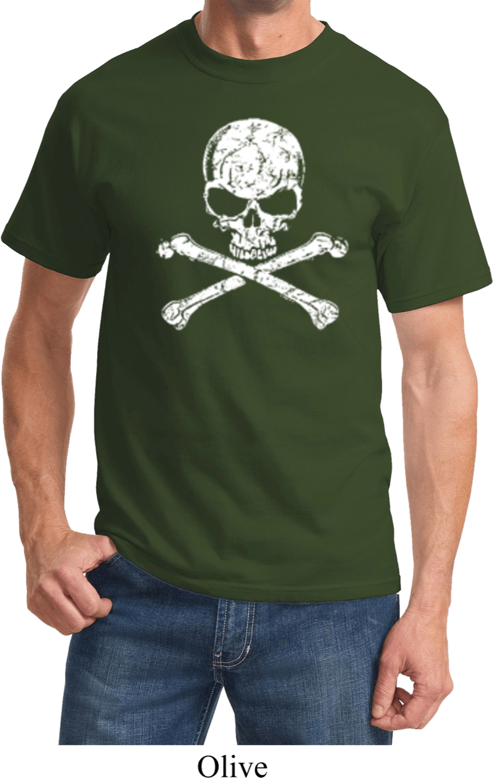 White distressed skull shirt white distressed skull mens for How to make a distressed shirt