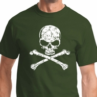 White Distressed Skull Shirts