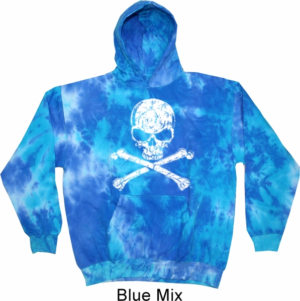 white distressed skull tie dye hoodie white distressed. Black Bedroom Furniture Sets. Home Design Ideas