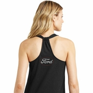 White Ford Back Print Ladies Ford Shirts