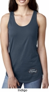 White Ford Bottom Print Ladies Ideal Tank Top